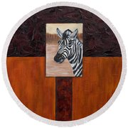 Zebra Round Beach Towel