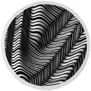 Zebra Folds Round Beach Towel