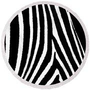 Zebra Hide Round Beach Towel