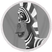 Zebra O Round Beach Towel