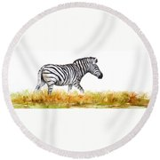 Zebra Panoramic Round Beach Towel