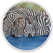 Zebra Pool Round Beach Towel