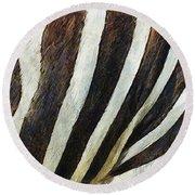Zebra Texture Round Beach Towel by Ayse Deniz