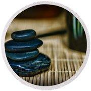 Zen Balance Is Key Round Beach Towel