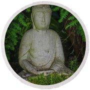 Zen Buddha Round Beach Towel