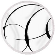 Zen Circles 3 Round Beach Towel