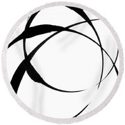Zen Circles 4 Round Beach Towel