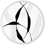 Zen Circles 5 Round Beach Towel