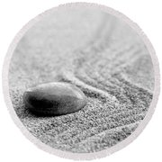 Zen Stone Round Beach Towel by Delphimages Photo Creations