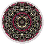 Zentangle No. 7 Kaleidoscope Round Beach Towel