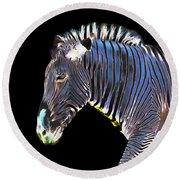 Zephyrus Zebra II Round Beach Towel