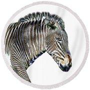 Zephyrus Zebra IIi Round Beach Towel