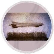 Zeppelin  Round Beach Towel by Bob Orsillo