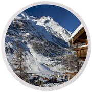 Zermatt Round Beach Towel