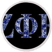 Zeta Phi Beta - Black Round Beach Towel