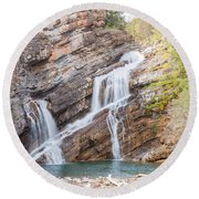 Zigzag Waterfall Round Beach Towel