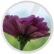 Zinnia Dream Round Beach Towel