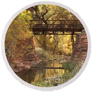 Zion Bridge Round Beach Towel
