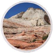 Zion Park - Rock Texture Round Beach Towel