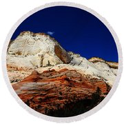 Zions Mount Round Beach Towel