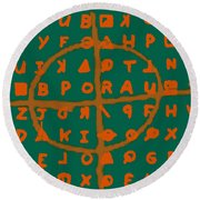 Zodiac Killer Code And Sign 20130213p28 Round Beach Towel