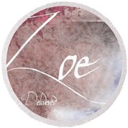 Zoe - Life Delivered Round Beach Towel