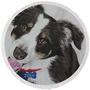 Zoey Round Beach Towel