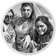 Zombie Run Nola 19 Round Beach Towel