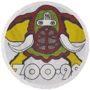 98 Kzew Radio Logo Round Beach Towel