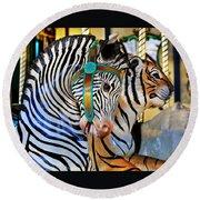 Zoo Animals 2 Round Beach Towel