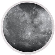 Zoom In Moon Round Beach Towel