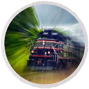 Zooming Through Ontario Round Beach Towel