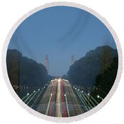 Zoomy Pic Of The Plaza State Capital Pa Round Beach Towel