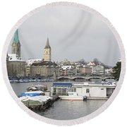 Zurich Round Beach Towel