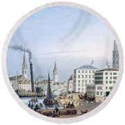 Zurich Round Beach Towel by Swiss School