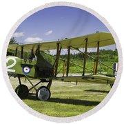 1916 Royal Aircraft F.e.8 World War One Airplane Photo Poster Print Round Beach Towel