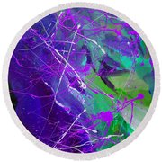 4th Symphony Of The Voyage Of The Stars Round Beach Towel