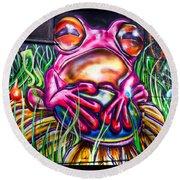Atomic Frog Round Beach Towel