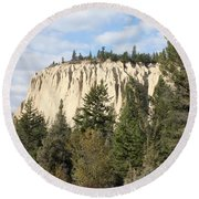 Canadian Rocky Mountain Hoodoos Bc Round Beach Towel