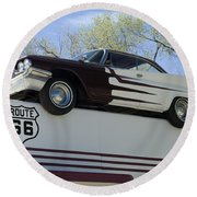 Route 66 De Soto  Round Beach Towel