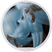 Icy Bluebells Round Beach Towel