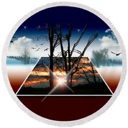 Into Another Dimension  Round Beach Towel