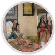 Life In The Harem - Cairo Round Beach Towel