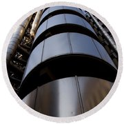 Lloyds Of London Building  Round Beach Towel