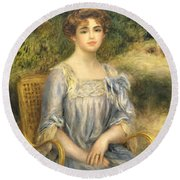 Madame Gaston Bernheim De Villers  Round Beach Towel
