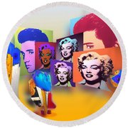 Pop Art Pop Up Round Beach Towel