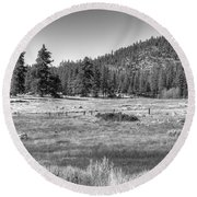 Prairie In South Lake Tahoe Round Beach Towel