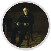 Robert M. Lindsay Round Beach Towel by Thomas Cowperthwait Eakins