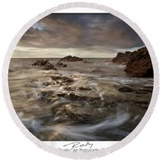 Rocky - At Trearddur Bay Round Beach Towel