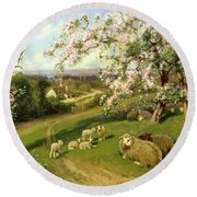 Spring - One Of A Set Of The Four Seasons  Round Beach Towel
